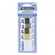 Beadalon Silk Wire 5-pack Black, White, Grey, Beige, Brown