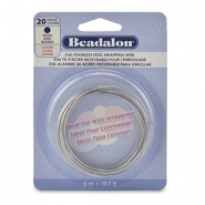 Beadalon Wrapping Wire Stainless Steel 20Gauge Bight Stainless Steel