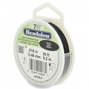 Beadalon stringing wire 7 strand 0.46mm Black
