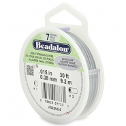Beadalon stringing wire 7 strand 0.38mm Satin Silver