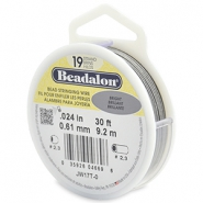 Beadalon stringing wire 19 strand 0.61mm Bright Stainless Steel