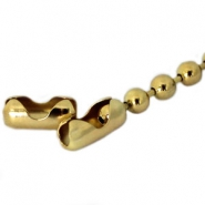 DQ ball chain clasp for 3mm chain DQ Gold durable plated