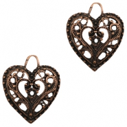 Charms TQ metal Baroque heart Copper (Nickel Free)