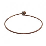 Findngs TQ metal bangle bracelet Copper (Nickel Free)