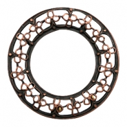 Charms TQ metal ring Baroque 50mm Copper (Nickel Free)