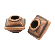 Beads TQ metal cube Copper (Nickel Free)
