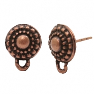 Findings TQ metal earrings round 10mm Copper (Nickel Free)