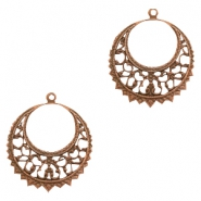 Charms DQ metal Baroque style Copper (Nickel Free)
