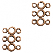 Findings TQ metal devider 6 loops Copper (Nickel Free)