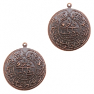 Charms TQ metal Oriental coin 30mm Copper (Nickel Free)