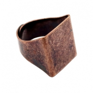 Findings TQ metal signet ring Copper (Nickel Free)