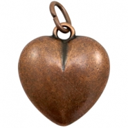 Charms TQ metal heart Copper (Nickel Free)