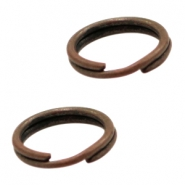 Findings TQ metal split ring/double ring 10mm Copper (Nickel Free)