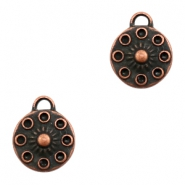 Charms TQ metal round 14mm Copper (Nickel Free)