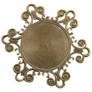 Charms TQ metal Baroque style Antique Bronze (Nickel Free)