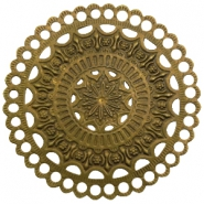 Charms TQ metal Mandala Antique Bronze (Nickel Free)