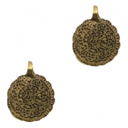 Charms TQ metal Oriental coin Antique Bronze (Nickel Free)