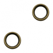 Charms DQ metal ring 12.5mm Antique Bronze (Nickel Free)