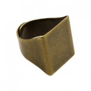 Findings TQ metal signet ring Antique Bronze (Nickel Free)