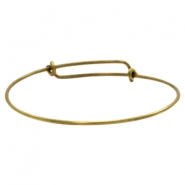Findings TQ metal bangle bracelet Antique Bronze (Nickel Free)