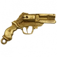 Charms TQ metal revolver Antique Bronze (Nickel Free)