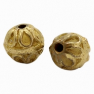 Beads TQ Deco ball 10mm Antique Bronze (Nickel Free)