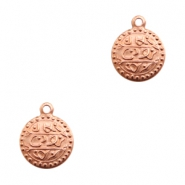 Charms TQ metal Oriental coin 13mm Rose Gold (Nickel Free)