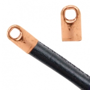 Findings TQ metal end cap Ø2.6mm Rose Gold (Nickel Free)