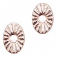 Beads TQ metal oval Rose Gold (Nickel Free)