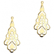Charms TQ metal baroque drop shaped Gold (Nickel Free)