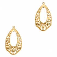 Charms TQ metal drop shaped Baroque Gold (Nickel Free)