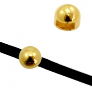 Findings TQ metal slider ball Ø6.1x2.6mm Gold (Nickel Free)