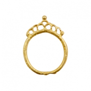 Charms TQ metal ring 26mm with crown Gold (Nickel Free)
