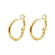 Findings TQ metal Creole earrings 25mm Gold (Nickel Free)
