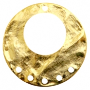 Charms TQ metal ring with 5 loops Gold (Nickel Free)