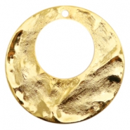 Charms TQ metal circle with big hole 40mm Gold (Nickel Free)