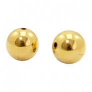 Beads TQ metal 10mm Gold (Nickel Free)