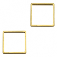 Charms TQ metal square Gold (Nickel Free)