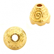 Beads TQ metal beadcap Gold (Nickel Free)