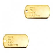 Charms TQ metal army ID tag Gold (Nickel Free)