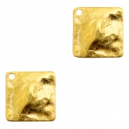Charms TQ metal flat square Gold (Nickel Free)