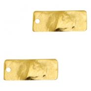 Charms TQ metal rectangle Gold (Nickel Free)
