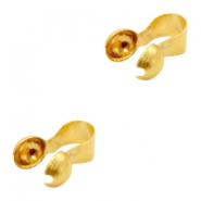 Findings TQ metal calottes 3mm Gold (Nickel Free)