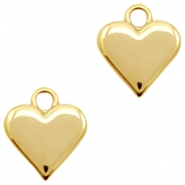 Charms TQ metal heart Gold (Nickel Free)