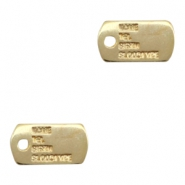 Findings TQ metal army IQ tag Gold (Nickel Free)