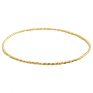 Findings TQ metal bangle bracelet Gold (Nickel Free)
