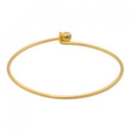 Findings TQ metal bangle bracelet Matt Gold (Nickel Free)
