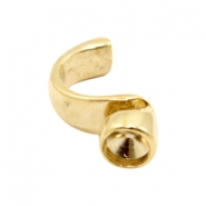 Findings TQ metal ring with setting for Swarovski SS39 Ø4x2mm Gold (Nickel Free)