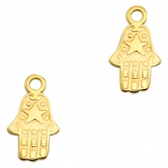 Charms TQ metal Hamsa hand star Gold (Nickel Free)