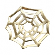 Charms TQ metal spider web Gold (Nickel Free)